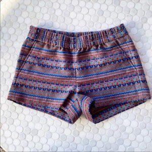 J. Crew Boho Aztec Printed Stretch Shorts Size 0